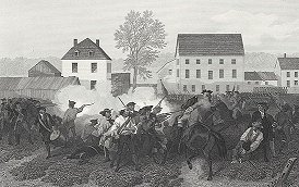 Drawing of the Battle of Lexington